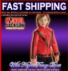 BOYS MICHAEL JACKSON DELUXE RED THRILLER JACKET SMALL AGE 3-4